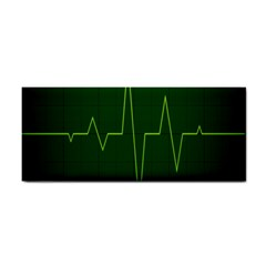 Heart Rate Green Line Light Healty Cosmetic Storage Cases by Mariart