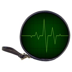 Heart Rate Green Line Light Healty Classic 20 Cd Wallets by Mariart