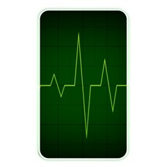 Heart Rate Green Line Light Healty Memory Card Reader by Mariart