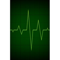Heart Rate Green Line Light Healty 5 5  X 8 5  Notebooks by Mariart