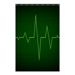 Heart Rate Green Line Light Healty Shower Curtain 48  X 72  (small)  by Mariart