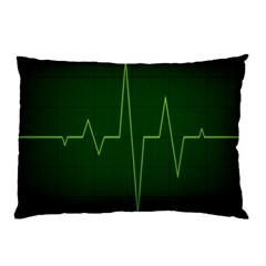 Heart Rate Green Line Light Healty Pillow Case (two Sides) by Mariart