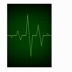 Heart Rate Green Line Light Healty Large Garden Flag (two Sides) by Mariart