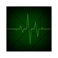 Heart Rate Green Line Light Healty Acrylic Tangram Puzzle (6  X 6 ) by Mariart