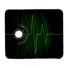 Heart Rate Green Line Light Healty Galaxy S3 (flip/folio) by Mariart