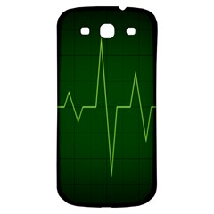 Heart Rate Green Line Light Healty Samsung Galaxy S3 S Iii Classic Hardshell Back Case by Mariart