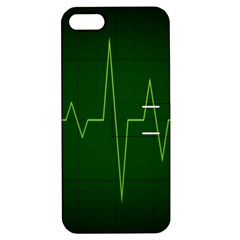 Heart Rate Green Line Light Healty Apple Iphone 5 Hardshell Case With Stand by Mariart