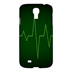 Heart Rate Green Line Light Healty Samsung Galaxy S4 I9500/i9505 Hardshell Case by Mariart