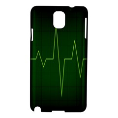 Heart Rate Green Line Light Healty Samsung Galaxy Note 3 N9005 Hardshell Case by Mariart