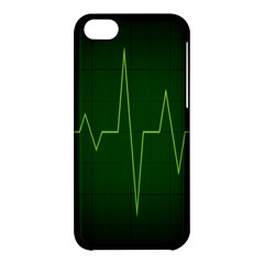 Heart Rate Green Line Light Healty Apple Iphone 5c Hardshell Case by Mariart