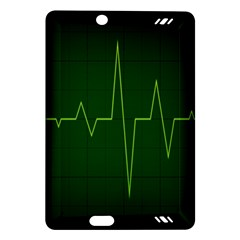 Heart Rate Green Line Light Healty Amazon Kindle Fire Hd (2013) Hardshell Case by Mariart