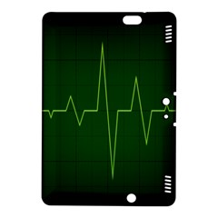 Heart Rate Green Line Light Healty Kindle Fire Hdx 8 9  Hardshell Case by Mariart