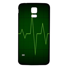 Heart Rate Green Line Light Healty Samsung Galaxy S5 Back Case (white) by Mariart