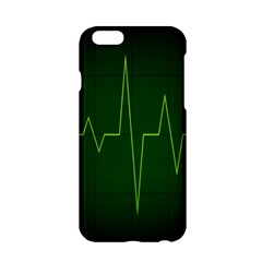 Heart Rate Green Line Light Healty Apple Iphone 6/6s Hardshell Case by Mariart