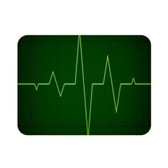 Heart Rate Green Line Light Healty Double Sided Flano Blanket (mini)  by Mariart