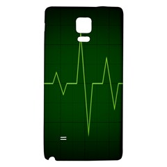 Heart Rate Green Line Light Healty Galaxy Note 4 Back Case by Mariart