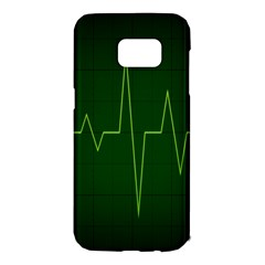 Heart Rate Green Line Light Healty Samsung Galaxy S7 Edge Hardshell Case by Mariart