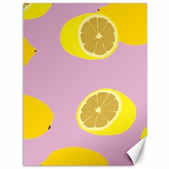 Fruit Lemons Orange Purple Canvas 36  X 48   by Mariart