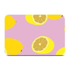 Fruit Lemons Orange Purple Plate Mats by Mariart