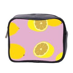 Fruit Lemons Orange Purple Mini Toiletries Bag 2 Side by Mariart