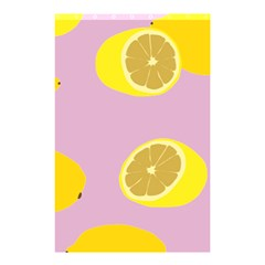 Fruit Lemons Orange Purple Shower Curtain 48  X 72  (small)  by Mariart