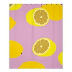 Fruit Lemons Orange Purple Shower Curtain 60  X 72  (medium)  by Mariart