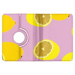 Fruit Lemons Orange Purple Kindle Fire Hdx Flip 360 Case by Mariart