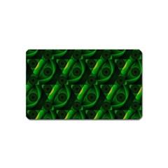 Green Eye Line Triangle Poljka Magnet (name Card) by Mariart