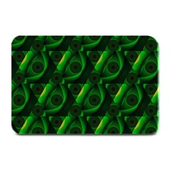 Green Eye Line Triangle Poljka Plate Mats by Mariart