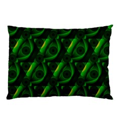 Green Eye Line Triangle Poljka Pillow Case (two Sides) by Mariart