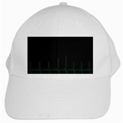 Heart Rate Line Green Black Wave Chevron Waves White Cap by Mariart