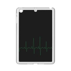 Heart Rate Line Green Black Wave Chevron Waves Ipad Mini 2 Enamel Coated Cases by Mariart