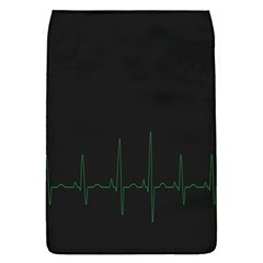 Heart Rate Line Green Black Wave Chevron Waves Flap Covers (s)  by Mariart