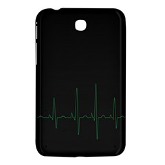 Heart Rate Line Green Black Wave Chevron Waves Samsung Galaxy Tab 3 (7 ) P3200 Hardshell Case  by Mariart