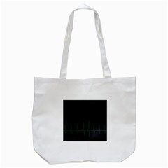 Heart Rate Line Green Black Wave Chevron Waves Tote Bag (white) by Mariart