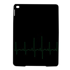 Heart Rate Line Green Black Wave Chevron Waves Ipad Air 2 Hardshell Cases by Mariart