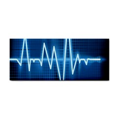 Heart Monitoring Rate Line Waves Wave Chevron Blue Cosmetic Storage Cases by Mariart