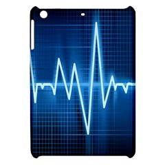 Heart Monitoring Rate Line Waves Wave Chevron Blue Apple Ipad Mini Hardshell Case by Mariart