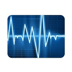 Heart Monitoring Rate Line Waves Wave Chevron Blue Double Sided Flano Blanket (mini)  by Mariart