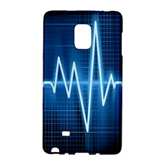 Heart Monitoring Rate Line Waves Wave Chevron Blue Galaxy Note Edge by Mariart