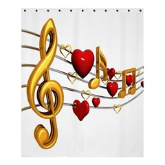 Music Notes Heart Beat Shower Curtain 60  X 72  (medium)  by Mariart