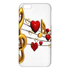 Music Notes Heart Beat Iphone 6 Plus/6s Plus Tpu Case by Mariart