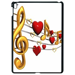 Music Notes Heart Beat Apple Ipad Pro 9 7   Black Seamless Case by Mariart