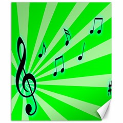 Music Notes Light Line Green Canvas 20  X 24   by Mariart