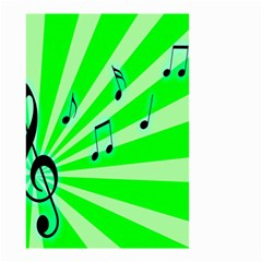 Music Notes Light Line Green Small Garden Flag (two Sides) by Mariart