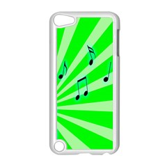 Music Notes Light Line Green Apple Ipod Touch 5 Case (white) by Mariart