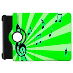 Music Notes Light Line Green Kindle Fire Hd 7  by Mariart