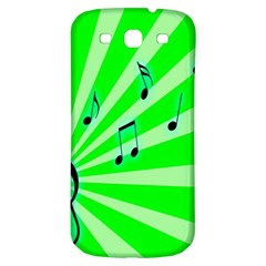 Music Notes Light Line Green Samsung Galaxy S3 S Iii Classic Hardshell Back Case by Mariart