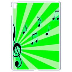 Music Notes Light Line Green Apple Ipad Pro 9 7   White Seamless Case by Mariart
