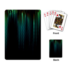 Lines Light Shadow Vertical Aurora Playing Card by Mariart